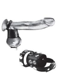 Утяжка на пенис и мошонку Cock Ring With 1.5 Ball Stretcher And Optional Weight Ring